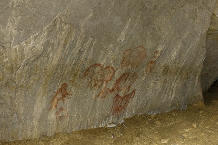 anthropology: the real rock paintings of ancient man, Kapova cave