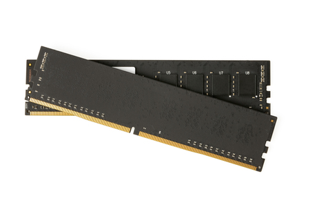 ddr3: Black computer memory modules on the white background