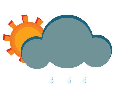 Sun rain Illustration