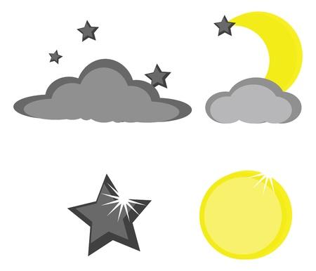 Moon star Banque d'images - 17807173