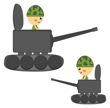 illus: soldier tank