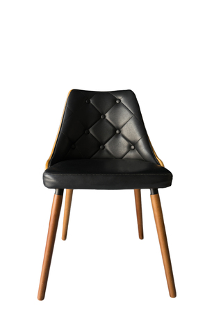 Black chair isolated Stock Photo