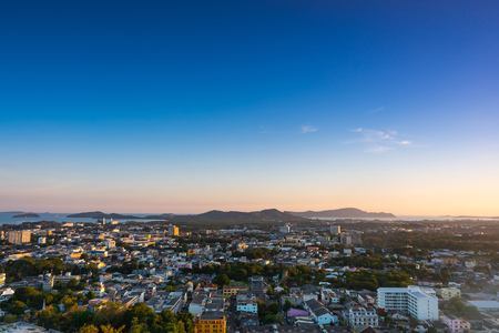 Cityscape of Phuket, Thailand. at viewpoint. 写真素材