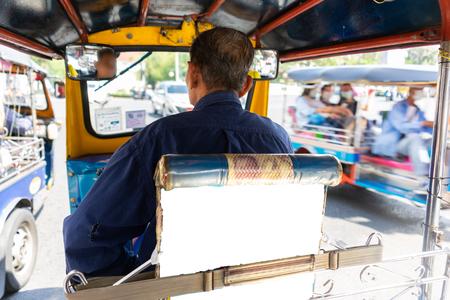 Tuk Tuk on the road at Bangkok, Thailand. Stockfoto