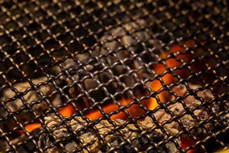 Brazier stove fire. (copy space)