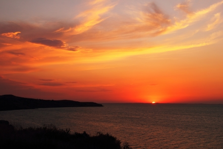 Sunset in Taman, Krasnodar Krai, Russia august - 2012  Stock Photo - 17352717