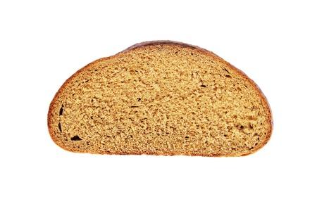 Cut piece of dark bread Stock Photo