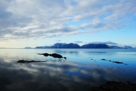 Arctic Sea landscape in Spitsbergen  Svalbard  Stock Photo - 17453811