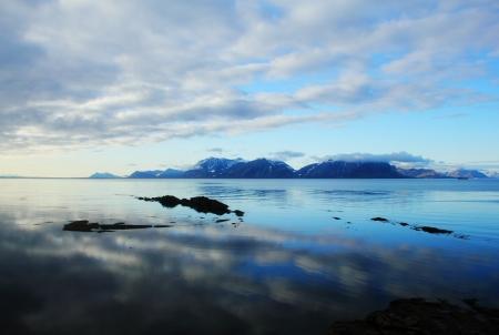 Arctic Sea landscape in Spitsbergen  Svalbard  Stock Photo