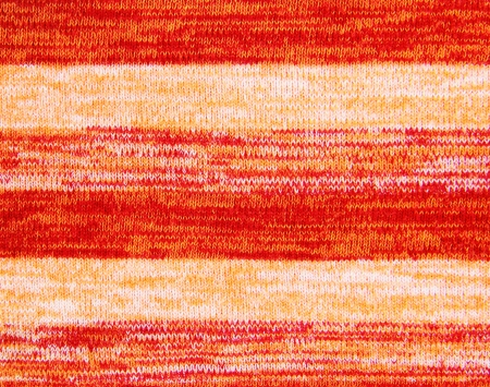 Orange knitted fabric
