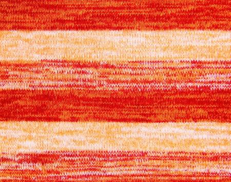 Orange knitted fabric