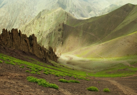 Ladakh range, Northern India