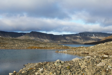 Glacial lake, Spitsbergen  Svalbard