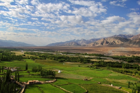Spituk valley, Ladakh range, Northern India Stock Photo - 17711911