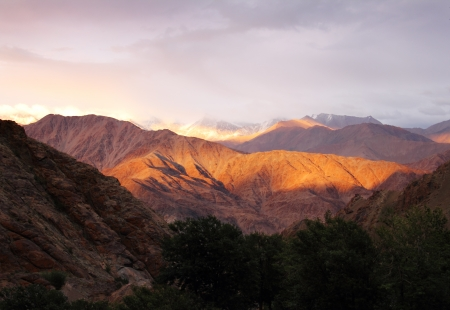 Sunset in Hemis, Leh district, Ladakh range, Northern India Stock Photo - 17711909