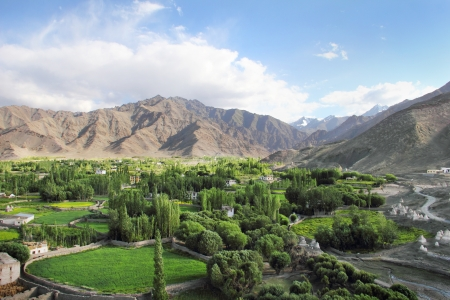 Spituk valley in Ladakh, Northern India
