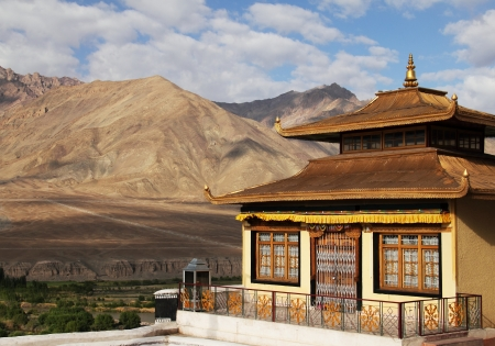 gompa: Spituk monastery in Ladakh, India