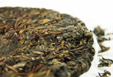 Compressed puer tea cake from China