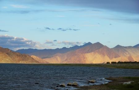 Pangong lake, Ladakh range, Northern India Stock Photo