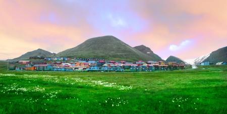 View ofLongyearbyen, Norway, Spitsbergen  Svalbard , august - 20