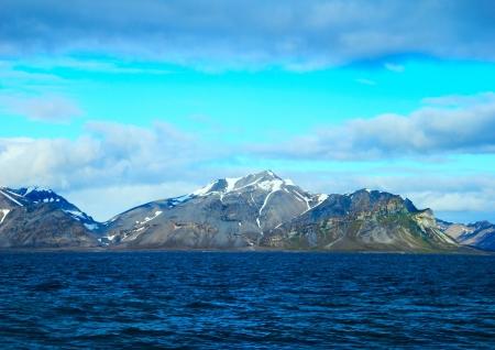 Arctic landscape in Spitsbergen  Svalbard  photo