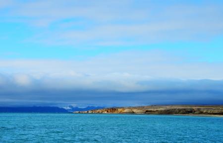 Arctic landscape in Spitsbergen  Svalbard island