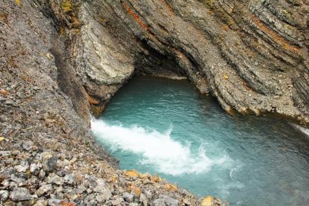 Water pond in rock, Spitsbergen  Svalbard