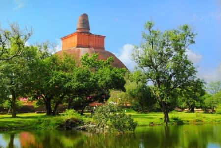 Mirisaveti stupa in Anuradhapura, Sri Lanka Stock Photo