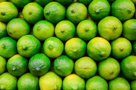 Pile of fresh organic limes