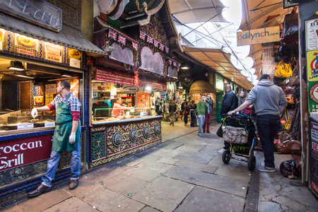 LONDON, UNITED KINGDOM - OCTOBER 10, 2014: View of The Stables at Camden Markets in London.