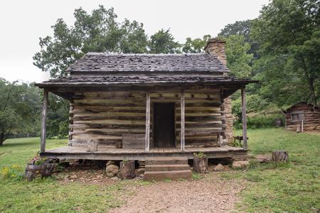 appalachian: Typical appalachian log home Stock Photo