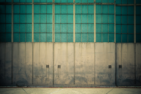 abandoned warehouse: Industrial garage doors