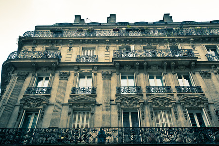 frence: Old Paris France building exterior Stock Photo