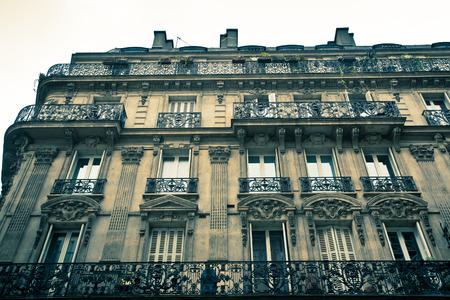 Old Paris France building exterior Standard-Bild