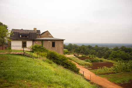 hillside: Hillside farm at Monticello in Charlottesville