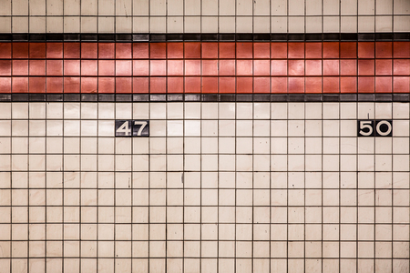 New York City Subway wall tiles