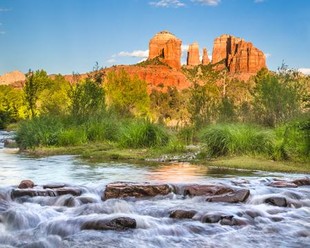 rock creek: Cathedral Rock at Oak Creek in Sedona Arizona