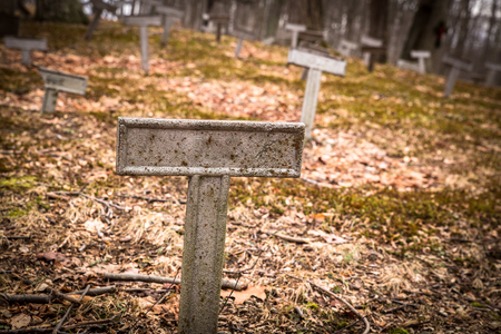 empty tomb: Metal marker at unknown grave