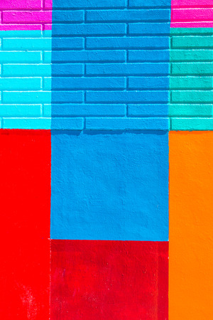 Colorful abstract paint on wall