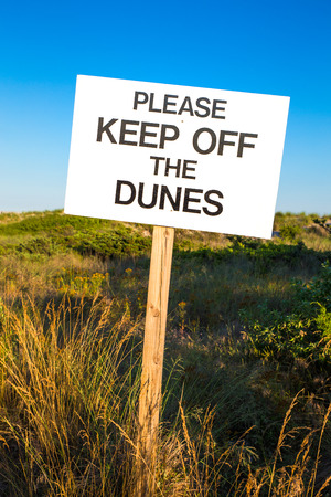 砂丘を維持してくださいに警告ビーチ記号