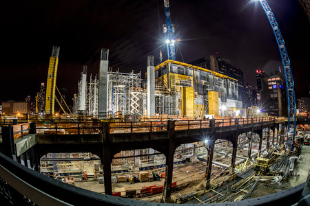 Hudson Yards construction site in New York City