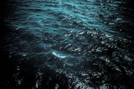 Dark ocean water with ripples