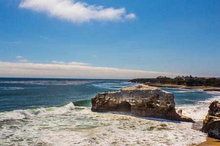 natural bridge state park: Natural Bridge State Beach in Santa Cruz California on a sunny day. Stock Photo