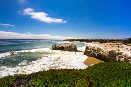 Natural Bridge State Beach in Santa Cruz California on a sunny day. Stockfoto