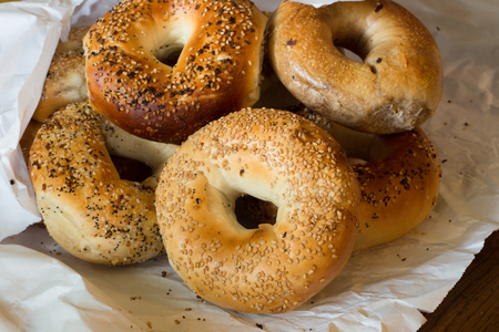 typical: Authentic New York style bagels