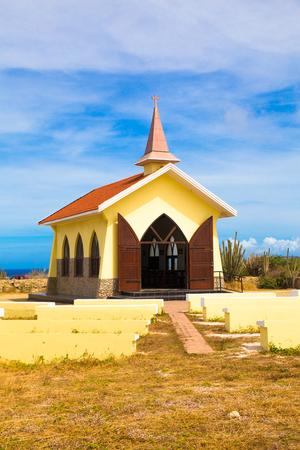aruba: Landmark Alto Vista Chapel along the Aruba Coast in Noord