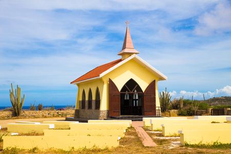 noord: Landmark Alto Vista Chapel along the Aruba Coast in Noord
