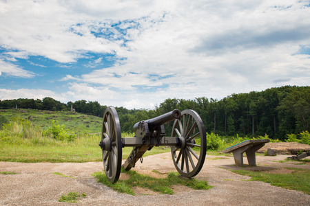 Cannon at historic Gettysburg Military Park in Pennsylvania