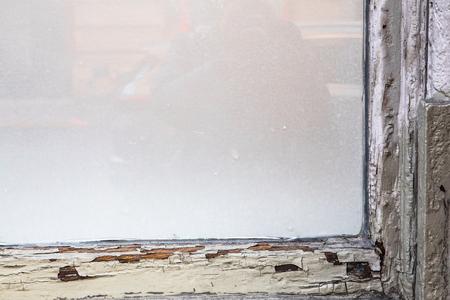 Old window frame Stok Fotoğraf