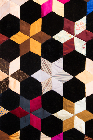 colorful quilt pattern Stock Photo